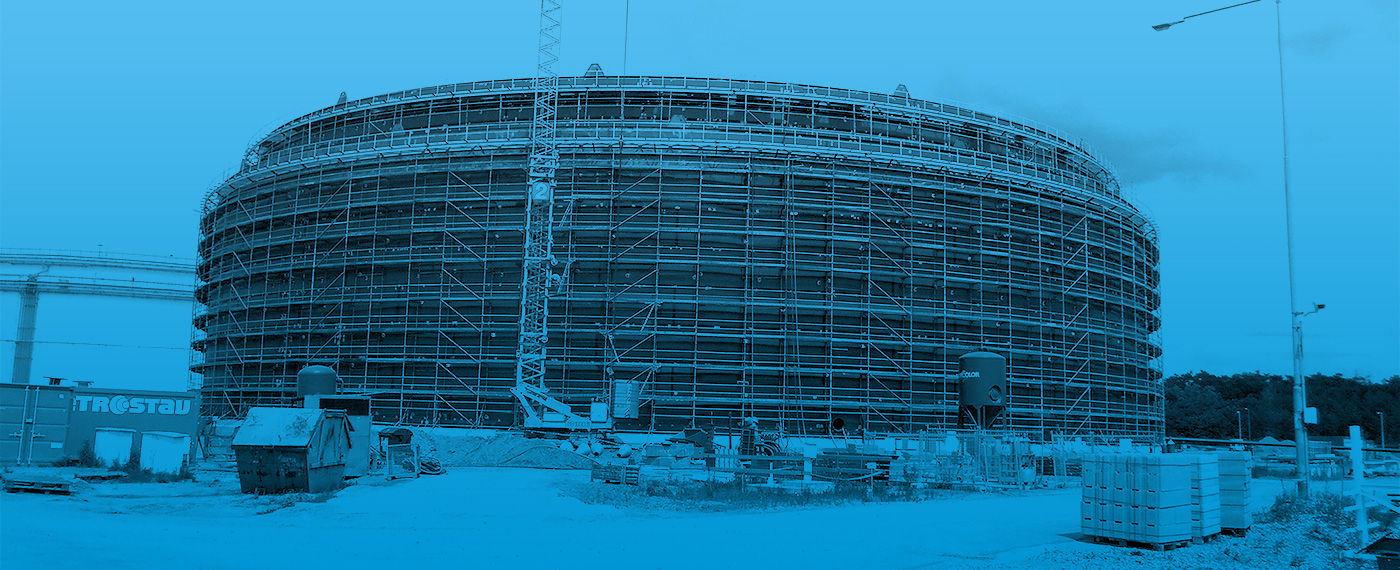 Case Study - 2100 Tonnes Of Barnshaws Polska Steel Plate Supports Oil Storage Tank Project