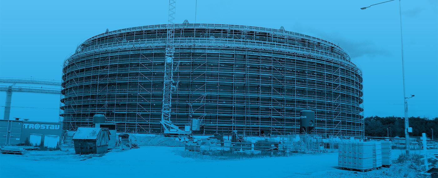 Case Study - 2100 Tonnes Of Barnshaws Polska Steel Plate Supports Oil Storage Tank Project