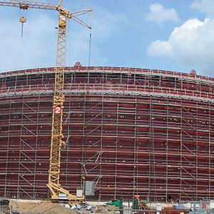 2100 tonnes of Barnshaws Polska steel plate supports oil storage tank project