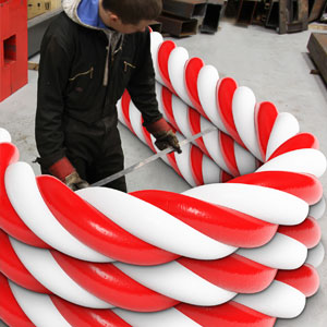 With Christmas only weeks away, and no time to bend the candy in-house, the elves contacted Barnshaws