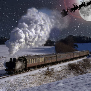 Since the dawn of steam, Santa has relied on the Polar Express for essential logistics around his festive distribution centre