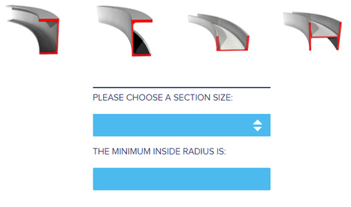 A new radius calculator has been released to help with your design.