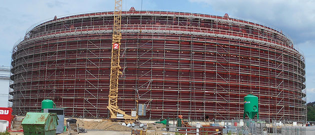 2100 tonnes of Barnshaws Polska steel plate supports oil storage tank project