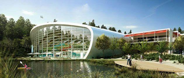 Centreparcs beautiful new curved atrium