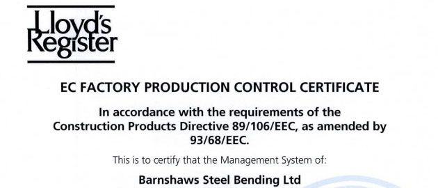 BSB FPC Certificate for CE Marking